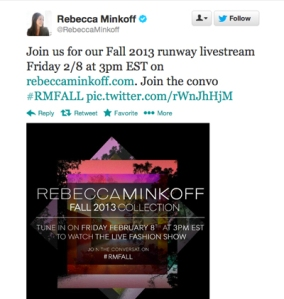 rebecca-minkoff-nyfw-tweet
