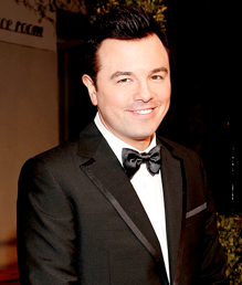 Seth MacFarlane, creator of animated series Family Guy, American Dad, and Cleveland Show.